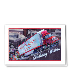 Trucking Christmas Cards - Flying Freight