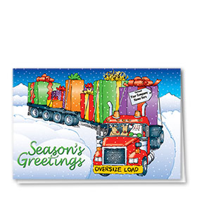 Holiday Card-Colorful Flatbed