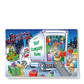 Trucking Christmas Cards - Friendly Delivery