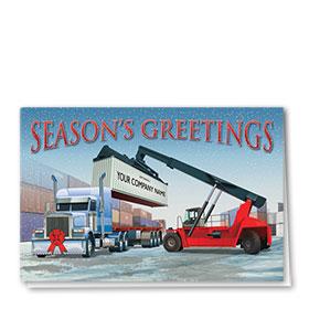Construction Christmas Cards - Holiday Shipment