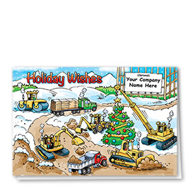 Construction Christmas Cards - Bustling Site