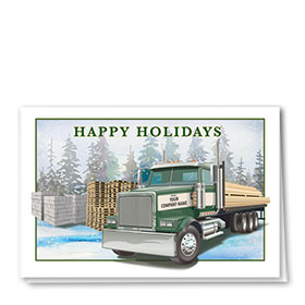 Construction Christmas Cards - Evergreen Lumber