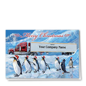 Holiday Card-Penguins on Ice