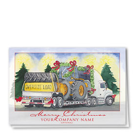 Trucking Christmas Cards - Oversize Load