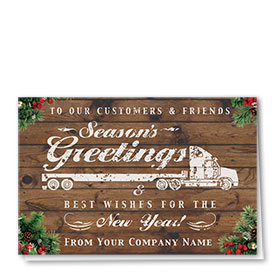 Trucking Christmas Cards - Flatbed Greetings