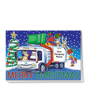 Construction Christmas Cards - Reindeer Refuse
