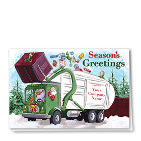 Construction Christmas Cards - Red Box Refuse