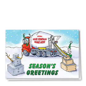 Holiday Card-Concrete Snowman