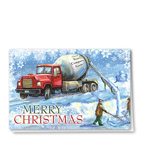 Holiday Card-Classic Concrete