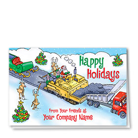 Holiday Card-Santa's Path