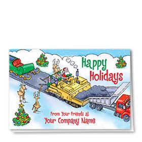 Construction Christmas Cards - Santa's Path