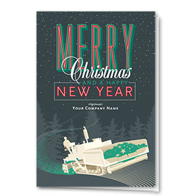 Construction Christmas Cards - New Year Paving