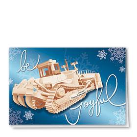 Holiday Card-Joyful Dozer