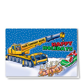 Construction Christmas Cards - Holiday Lift