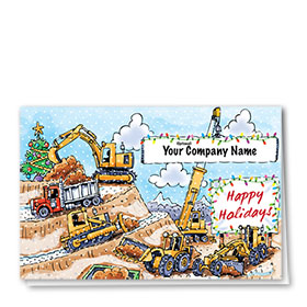 Trucking Christmas Cards - Mountain Worksite