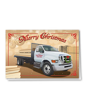 Construction Christmas Cards - Merry Lumber