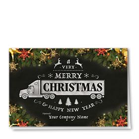 Holiday Card-Embellished Chalkboard