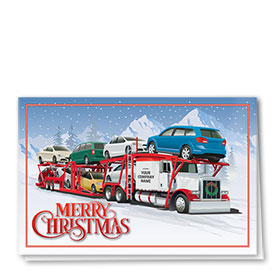 Trucking Christmas Greeting Cards - Christmas Carrier