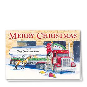 Trucking Christmas Cards - Adorned Tanker