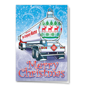 Trucking Christmas Cards - Ornament Tanker