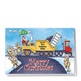 Construction Christmas Cards - Paving Pals