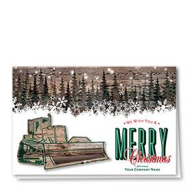 Holiday Card-Woodgrain Dozer