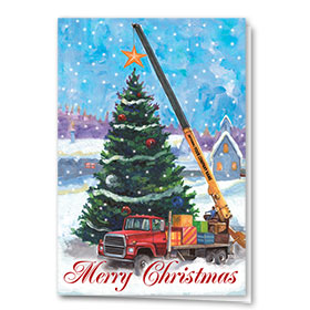 Construction Christmas Cards - Christmas Star