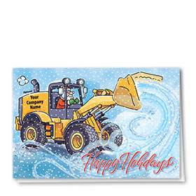 Construction Christmas Cards - Swirls of Snow