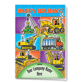 Construction Christmas Cards -  Colorblock Construction