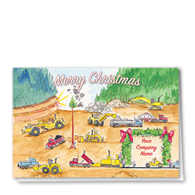 Construction Christmas Cards - Construction Scene