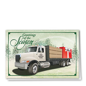 Construction Christmas Cards - Lumber Gift