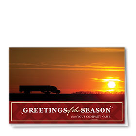 Trucking christmas cards trucking holiday greeting cards trucking christmas cards sunset truck m4hsunfo