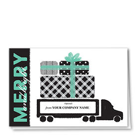 Trucking Christmas Cards - Pretty Presents