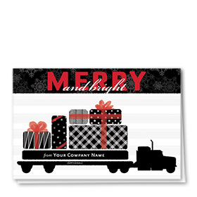 Trucking Christmas Cards - Precious Packages