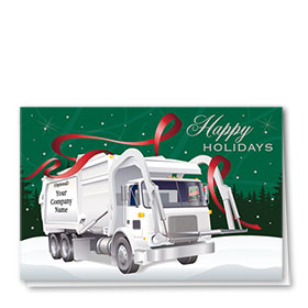 Construction Christmas Cards - Ribbon Refuse