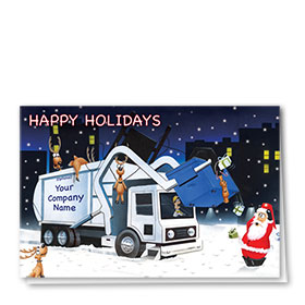 Construction Christmas Cards - City Night