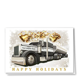Trucking Christmas Cards - Holiday Tanker