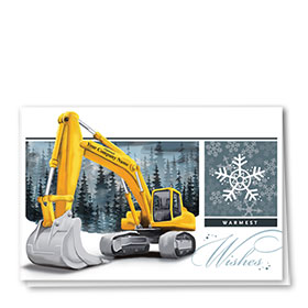 Construction Christmas Cards - Blue Winter