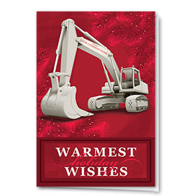 Construction Christmas Cards - Shades of Red