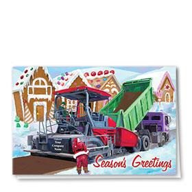 Construction Christmas Cards - Paving Joy