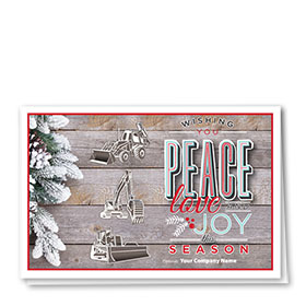 Construction Christmas Cards - Peace Trio