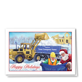 Construction Christmas Cards - Holiday Plans