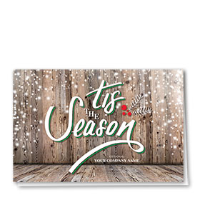 Construction Christmas Cards - Winter Lumber