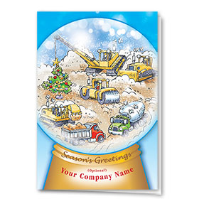 Construction Christmas Cards - Site Snowglobe