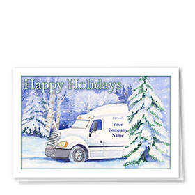 Trucking Christmas Cards - Winter Trip