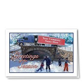 Trucking Christmas Cards - Skating Joy