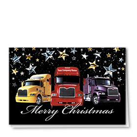 Trucking Christmas Cards - Starry Trio
