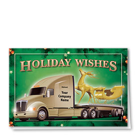 Trucking Christmas Cards - Golden Sleigh