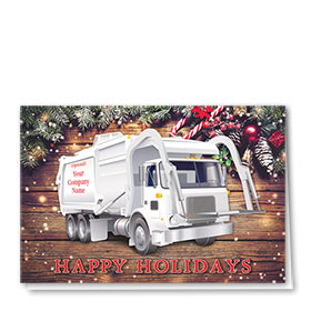 Trucking Christmas Cards - Pine Refuse