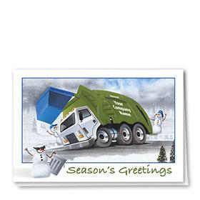Trucking Christmas Cards - Snowman Crew